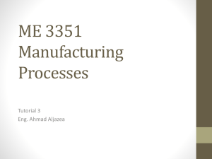 ME 3351 Manufacturing Processes