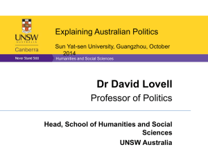 Head, School of Humanities and Social Sciences UNSW Australia