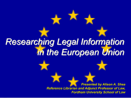 Researching EU Information ()