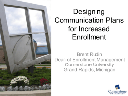 Communication Plans - Hobsons University