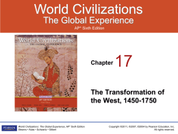 world civilizations ap chapter 6 The textbook for the course is world civilizations: the global experience ap edition  chapter 1: from human  significance of the first major civilizations in .