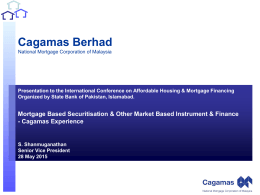 MBS & other MBIs of Finance, Experience of