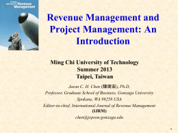 Revenue and Project Management