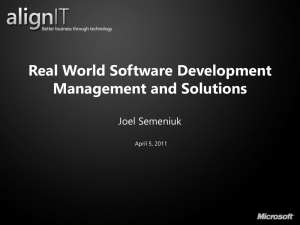 Real World Software Development