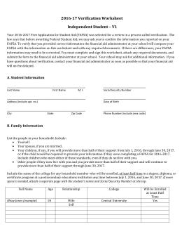 2016 2017 wvncc independent verification worksheet. Black Bedroom Furniture Sets. Home Design Ideas