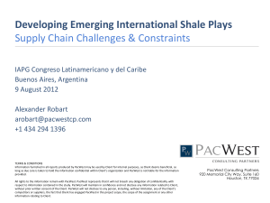 Developing Emerging International Shale Plays