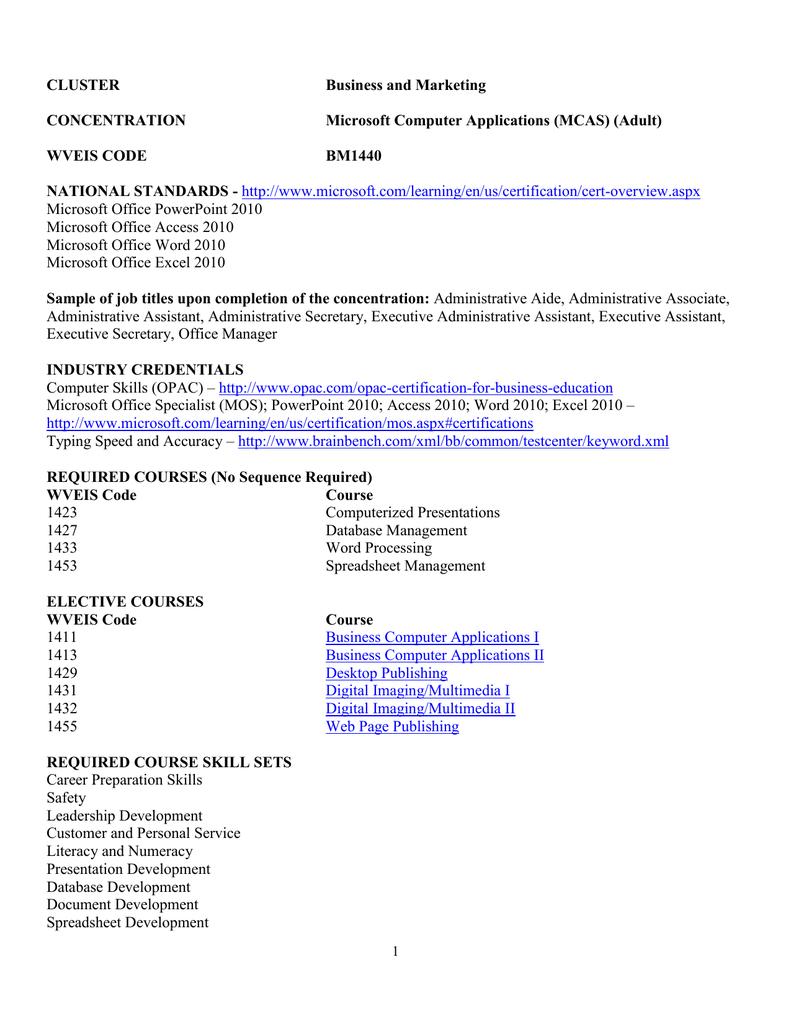 Bm1440 Microsoft Computer Applications Adult