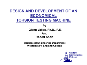 design and construction of a torsion testing apparatus