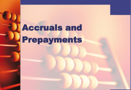 Accruals and pre-payments