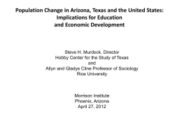 Population Change in Arizona, Texas and the United States