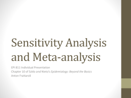Sensitivity Analysis and Meta