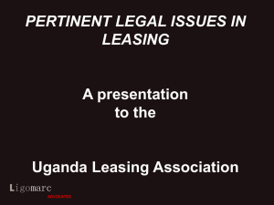 Legal Aspects of Leasing - Uganda Leasing Association