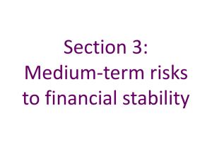Section 3 – Medium-term risks to financial stability