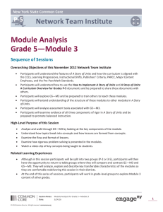 Session 2 - Module Analysis of G5-M3 - Notes