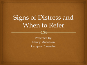 Signs of Distress and When to Refer