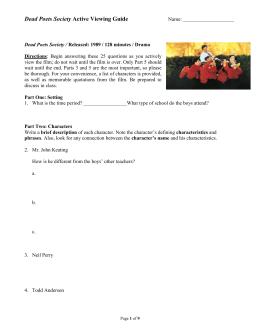homework task 1 dps rh studylib net dead poets society viewing guide part 3 answers dead poets society active viewing guide answer key