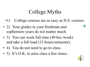 Econ 4440/5440 College Myths created by Dr. Nieswiadomy