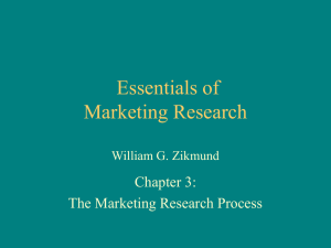Chapter 3 - Essentials of Marketing Research