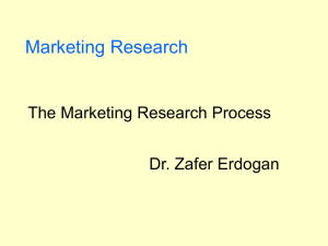 Chapter 1 - Exploring Marketing Research