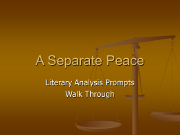 A Separate Peace Essay Ideas Storyboard That