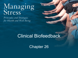 Chapter 26: Clinical Biofeedback