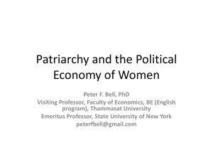 Patriarchy and the Political Economy of Women
