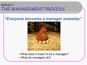 WHAT MANAGERS DO Management Skills Management