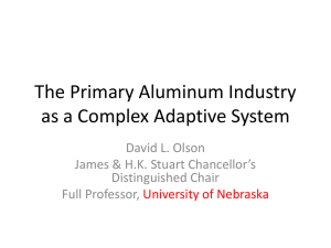The World Aluminum System - University of Nebraska–Lincoln
