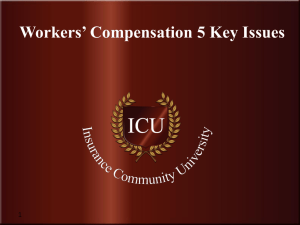 Workers' Compensation - Insurance Community University