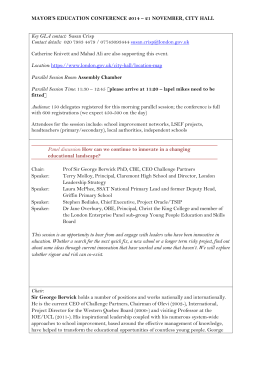 NOVEMBER 22 2013 ANNUAL CONFERENCE TEMPLATE FOR