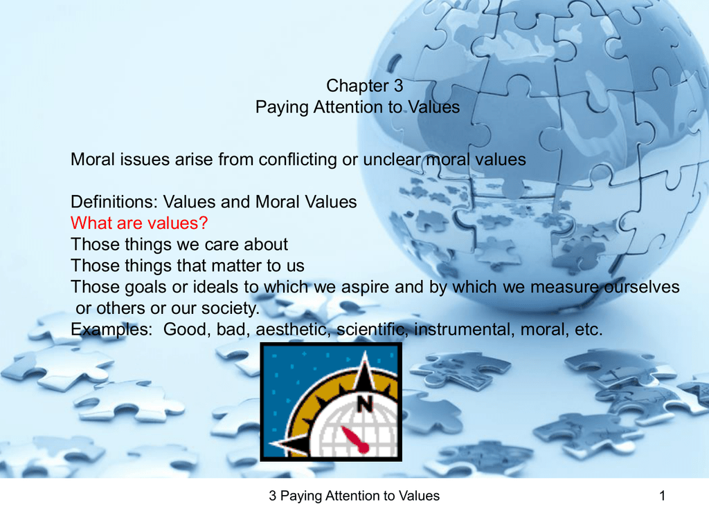moral values examples