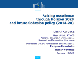 Raising excellence through Horizon 2020 and future - Neth-ER