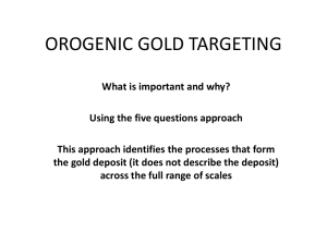 Orogenic gold targeting [PPT 7.3MB]