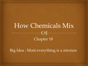 How Chemicals Mix