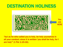 L4 PPP obstacles to holiness