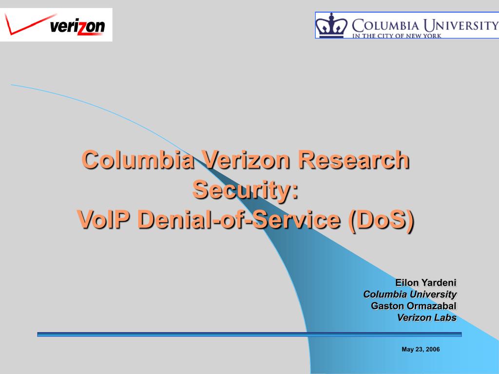 Verizon-DDOS - Columbia University
