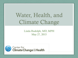 Water, Health, and Climate Change