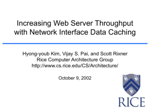Increasing Web Server Throughput with Network Interface Data