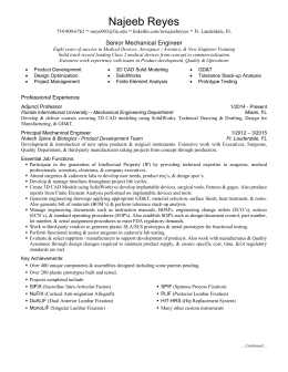 Resume-Format - Florida International University