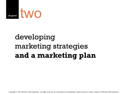 and a marketing plan - McGraw Hill Higher Education