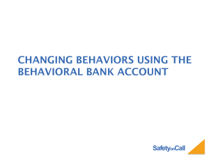SafetyonCall Changing behaviors using the behavioral bank