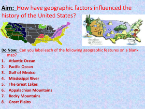 Intro: U.S. Geography