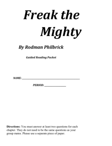 Freak the Mighty Packet