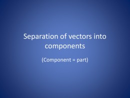 Resolution of vectors into components