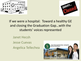 "If We Were a Hospital We'd Be Shut Down: ""Give Students a Compass"""