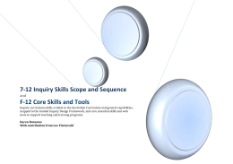 7-12 Inquiry Skills Scope and Sequence