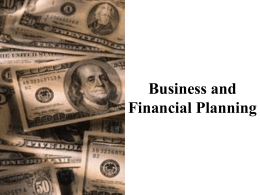 Business and Financial Planning