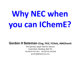 Why NEC when you can IChemE - King's College Construction Law