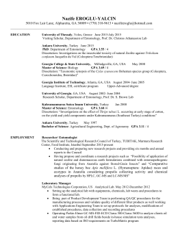 Resume - Entomological Society of America