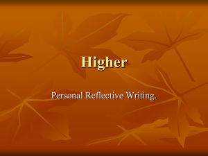 personal reflective updated